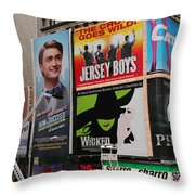 Times Square 7 Throw Pillow