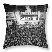 Times Square Election Crowds Throw Pillow
