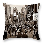 Times Square New York S Throw Pillow