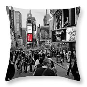 Times Square New York Toc Throw Pillow