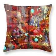 Times Square Reflections Throw Pillow