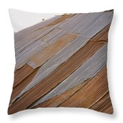 Rusted Patchwork Throw Pillow
