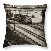 Tinted Train Throw Pillow
