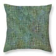 Tiny Bluetone Diamonds Throw Pillow