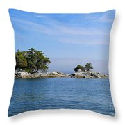 Tiny Island Off Vancouver Island Throw Pillow