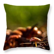 Tiny Shrooms Throw Pillow