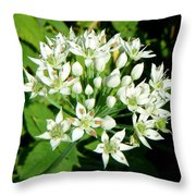 Tiny White Flowers Throw Pillow