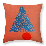 Tipi With Fire Detail Throw Pillow