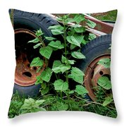 Tires And Ivy Throw Pillow