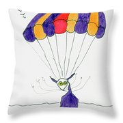 Tis Just Dropping In Throw Pillow