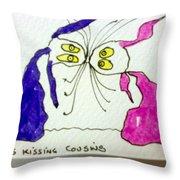 Tis Kissing Cousins Throw Pillow