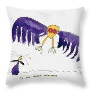 Tis My Worst Nightmare Throw Pillow