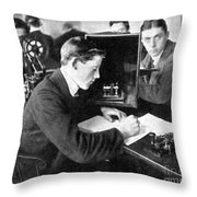 Titanic: Harold Cottam Throw Pillow