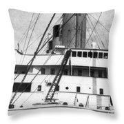Titanic: The Bridge, 1912 Throw Pillow