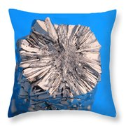 Titanium Crystals Throw Pillow