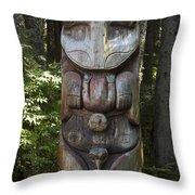 Tlingit Totem Pole, Sitka National Throw Pillow