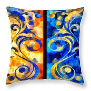 To Harness The Moon And The Sun Throw Pillow