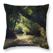 To My Happy Place Throw Pillow