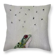 To Save Their Small Lives From Surrounding Death Throw Pillow by Fabrizio Cassetta