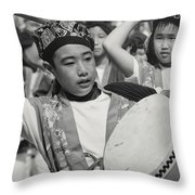 To The Beat Of The Drum Throw Pillow