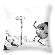 To The Hideout Throw Pillow