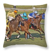 To The Line Throw Pillow