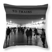 To Trains Throw Pillow