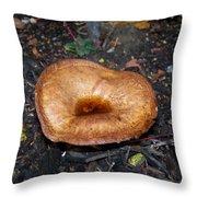 Toadstool In Garden Throw Pillow