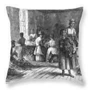 Tobacco Factory, 1873 Throw Pillow