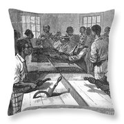 Tobacco: Twisting, 1879 Throw Pillow