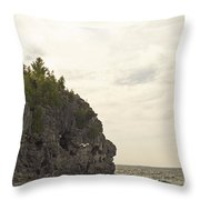 Tobermory Caves Throw Pillow