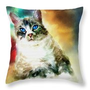 Toby The Cat Throw Pillow