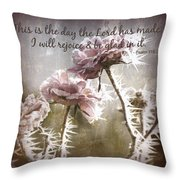 Today Throw Pillow by Bonnie Bruno