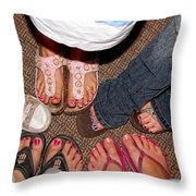 Toes In Throw Pillow