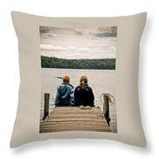 Toes In The Water Throw Pillow