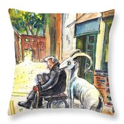 Together Old In Cyprus 02 Throw Pillow