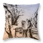 Together Old In Cyprus 05 Throw Pillow