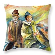 Together Old In Morocco 02 Throw Pillow