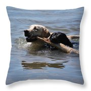 Together We Fetch Throw Pillow