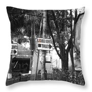 Toilet Sign Throw Pillow