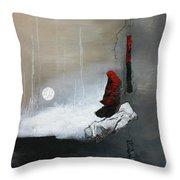 Tokyo Moon Throw Pillow