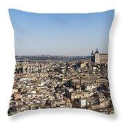 Toledo Cityscape Throw Pillow