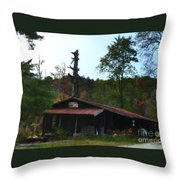 Toll Gate House Throw Pillow