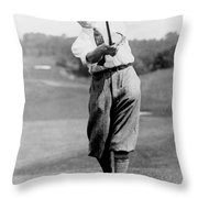 Tom Armour Wins Us Golf Title - C 1927 Throw Pillow