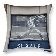 Tom Seaver 41 Throw Pillow by Rob Hans