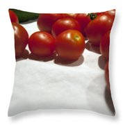 Tomato And Cucumber 1 Throw Pillow