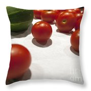 Tomato And Cucumber 2 Throw Pillow