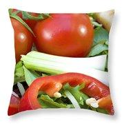 Tomato Salad Close Up Throw Pillow