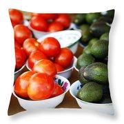 Tomato Y Avacado Throw Pillow