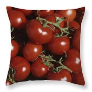 Tomatoes At A Market In Provence Throw Pillow
